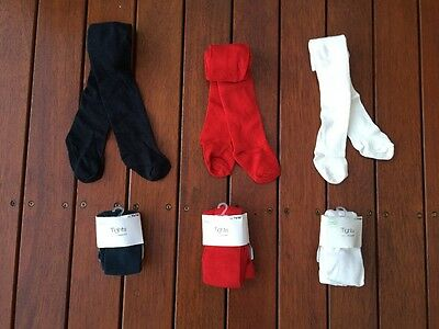 NEW Baby Girl Organic Cotton Tights Socks Stocking 0-4 years Ivory Black Red