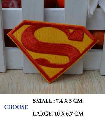 new DIY Superman Embroidered Patch - Applique Badge - Iron-on / Sew On