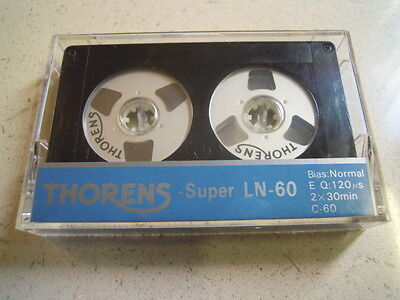Thorens Super Ln-60 Reel Cassette Audio Tape New Kassette Musicassetta Nos Rare