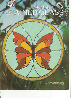 Stained Glass 11 Patterns Book Butterfly Owl Parrot Rose Owl Flower White Dove