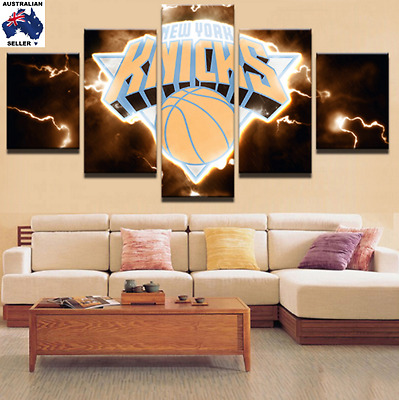 New York Knicks Decor Canvas Wall Art Picture Landscape (5piece)
