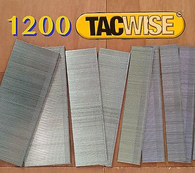 1200 Assorted Tacwise Nails 20mm 25mm 30mm 35mm 18 Gauge/18g/180 Galvanised Gun
