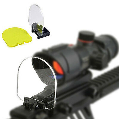 Protector Airsoft Lens Sight Cover Shield W/20mm Rail Mount For Rifle Scope