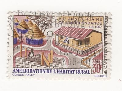 1967 IVORY COAST 7th Anniv of Independence  30f. Improvement of Rural Housing GU