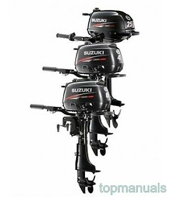 Suzuki Df4 Df5 Df6  Workshop Service Manual Outboard Df 4 Df 5 Df 6