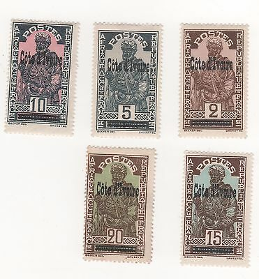 1933 IVORY COAST French Colony Stamps of Upper Volta optd Cote d'Ivoire MUH / MH