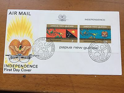 Papua New Guinea Independence First Day Cover 1975 Decimal Currency