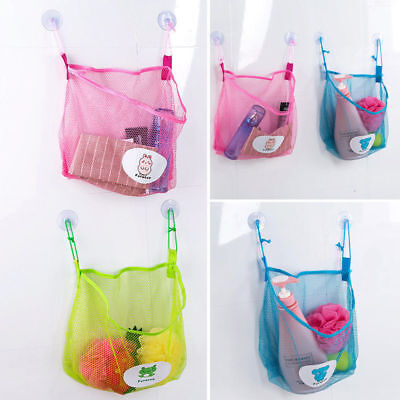 Kids Baby Bath Time Tidy Storage Toy Suction Cup Organiser Bag Mesh Bathroom Net