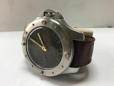 8 Days Homage of Vintage Panerai Egiziano Angelus 190 Cal Movement 60mm Alarm