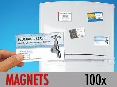 100 Custom Printed Fridge Magnet Business Card Magnets Promotional ONLY 91p each