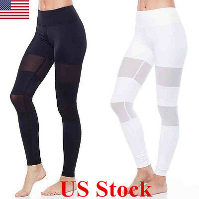 US Womens Sports Gym Yoga Running Fitness Leggings Pants Athletic Trousers S-XL