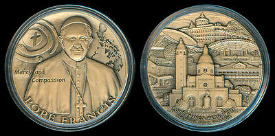 2015 POPE FRANCIS Papal Visit to the Philippines Mercy & Compassion Bronze Medal