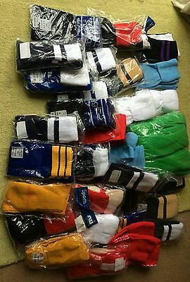 Sports Socks Job Lot 50 Pairs  Mens/ladies/children Mixed Colours  &  Sizes New