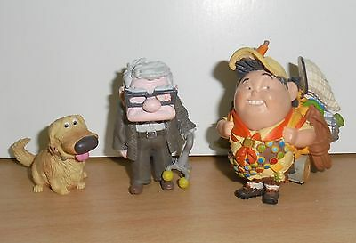 Complete set DISNEY'S PIXAR UP BULLYLAND FIGURES - CARL FREDRICKSEN  Russell Dug