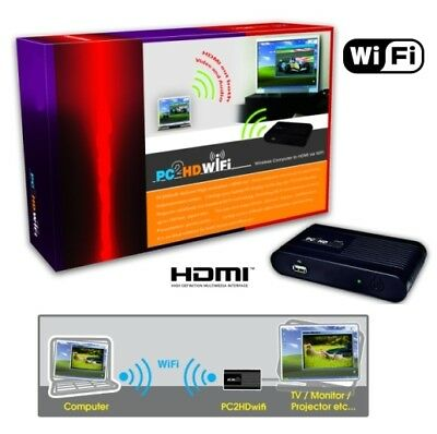 Trasmettitore Wifi Segnale Vga-Hdmi Pc2Tv Notebook A> Tv Lcd Hd Full Led Lcd