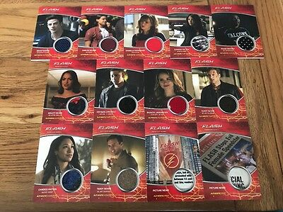 The Flash Season 2 Wardrobe Cards x 13 Barry Allen, Iris, Jay, Caitlin,Sears !!!