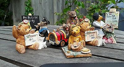 Collection Of Teddy Bears By Peter Fagan Colour Box Collector Bears