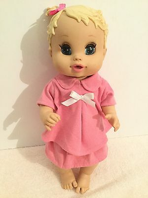 Hasbro Baby Alive Drinking & Wetting Doll Blue Sleeping Eyes 34cm Tall VGC
