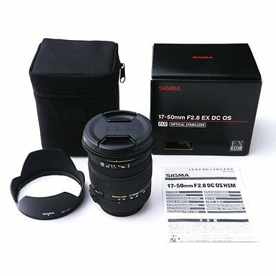 Sigma 17-50mm F2.8 EX DC OS HSM Zoom Lens for Nikon Mount #SI134X L012