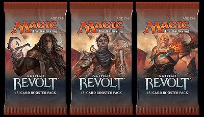 Aether Revolt 3 x NEW and SEALED MtG Boosters