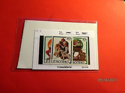 Lesotho Stamp Pack Norman Rockwell Theme Mint ST182