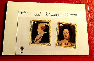 Barbuda Kings & Queens of England series #21 & 30  Mint NH Stamps  ST59
