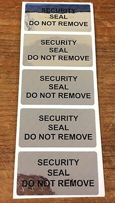 Tamper Evident Security Seal Do Not Remove Seal / Labels (Stickers) 30mm x 60mm