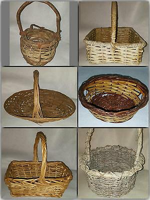 Variety Wood/Wicker/Straw Woven Basket for Easter or Home Decor