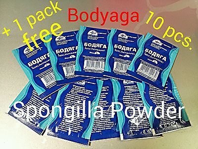 10 Packs * BODYAGA / BADYAGA  Fresh Water Spongilla Powder 5g