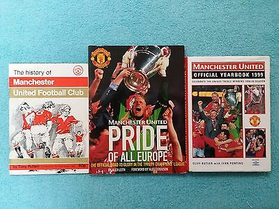 Small Collection Of Official Manchester Utd Yearbooks / History