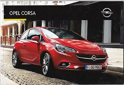 Opel Corsa - Catalogue Dirty Katalog Brochure Prospectus 2016 - 62 Pages - New
