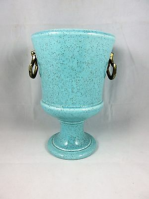 Vintage Red Wing Pottery Vase in Aqua Blue Green Light Turquoise Planter