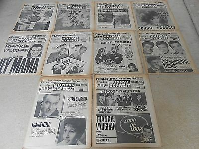 (10) Copies of NME New Musical Express Classic 1963 music magazines