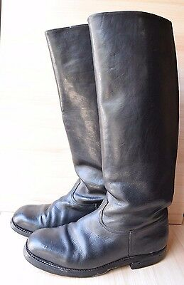 Original Vintage WWII Military Officer's Army High Boots Chavdar 40-41 Bikers