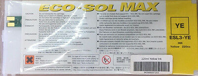 1 Roland 220cc Eco Sol Max Yellow  Free Shipping In USA