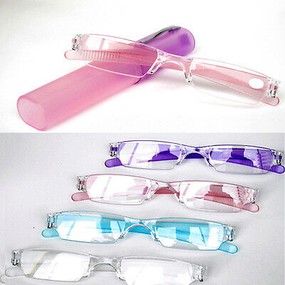 Rimless Hot Reading Glasses 1.0-4.0 Diopter Clear Presbyopia Spectacles New