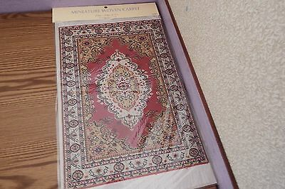 new Dolls House xlarge Turkish Carpet /rug 29cm x20cm 1.12th scale lot AA