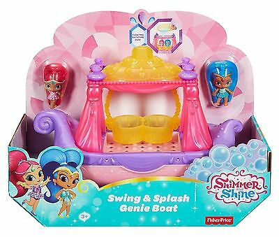 Shimmer and Shine - Swing & Splash Genie Boat Playset with Dolls - DTK86 - NEW