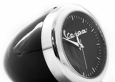 GENUINE Vespa Piaggio Black Desktop Clock - Brand New - Vintage Headlamp Style