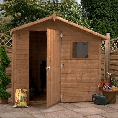 Offset Apex Shed (7 x 5) Mercia Garden Products Sheds