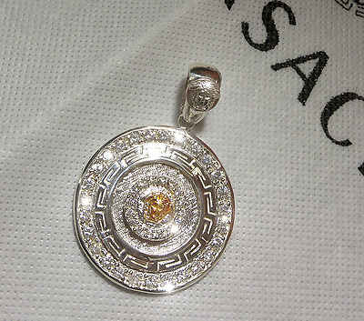 VERSACE Pendant in 10K and Sterling Silver 925. men's and women's