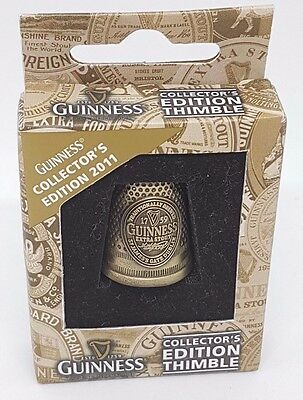 Guinness Ale Collectors Edition Thimble New & Boxed VGC Brass 2011 Breweriana