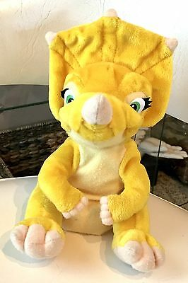 """Vintage Land Before Time Movie Cera Triceratops Plush Stuffed Animal 9"""" Equity"""
