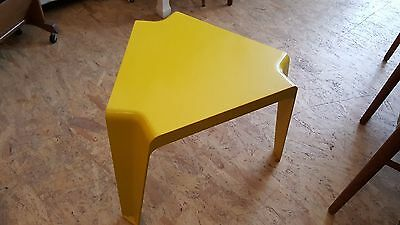 Bofinger Stool / Table 1970s Side Table Yellow Vintage