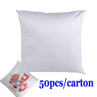 50pcs/carton - New Plain White 3D Sublimation Blank Pillow Case Cushion Cover