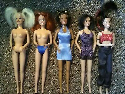 Set Of Loose Spice Girls Doll Barbie Posh Baby Scary Sporty Concert Girl Power