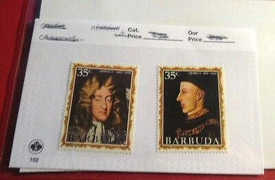 Barbuda Kings & Queens of England Series #14 & #28  Mint NH Stamps  ST49
