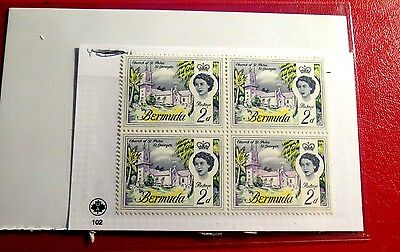 Block of 4 Bermuda St Peter's Church mint Stamps  NH  ST31