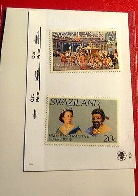 Swaziland 2 1977 Silver Jubilee Mint Stamps NH ST65