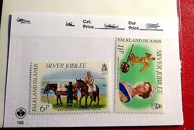 Falkland Islands 2 1977 Silver Jubilee mint Stamps  NH  ST38